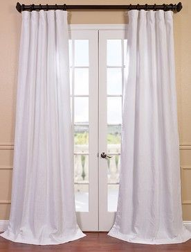 Blanc White French Linen Curtain Contemporary Curtains Linen Curtain Panels Living Room Drapes Half Price Drapes