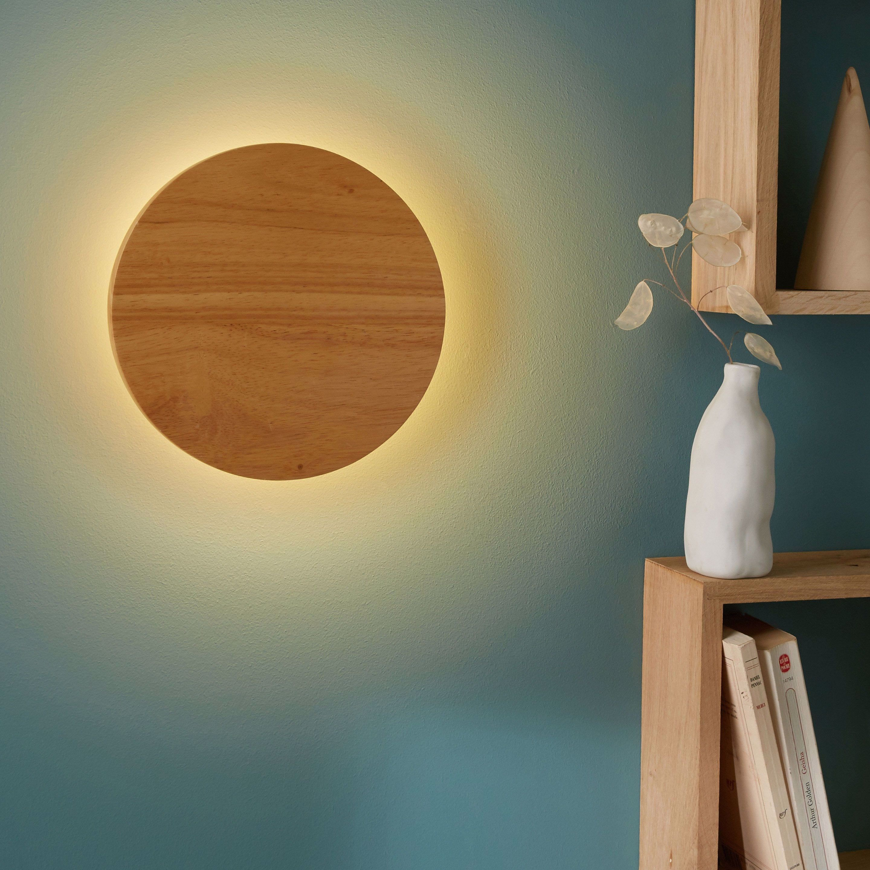 Applique Bois Bois Led Integree Inspire Flav In 2020 Wall Lamp Wall Lights Wall