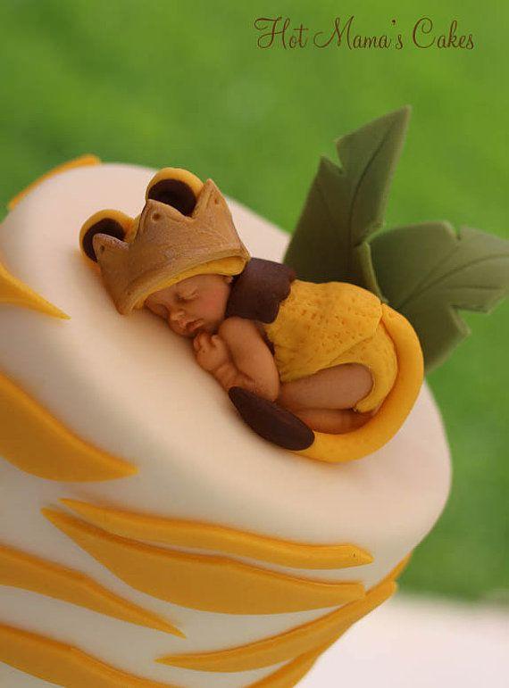 Sleeping Baby Lion Cake Topper On Etsy 25 00