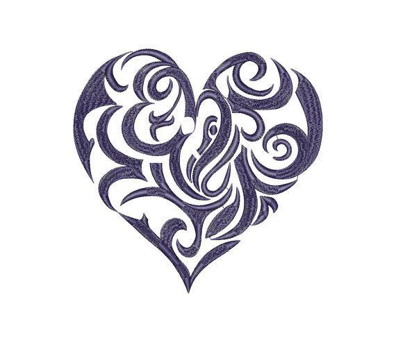 Hearts Love Valentine Machine Embroidery Design Instant