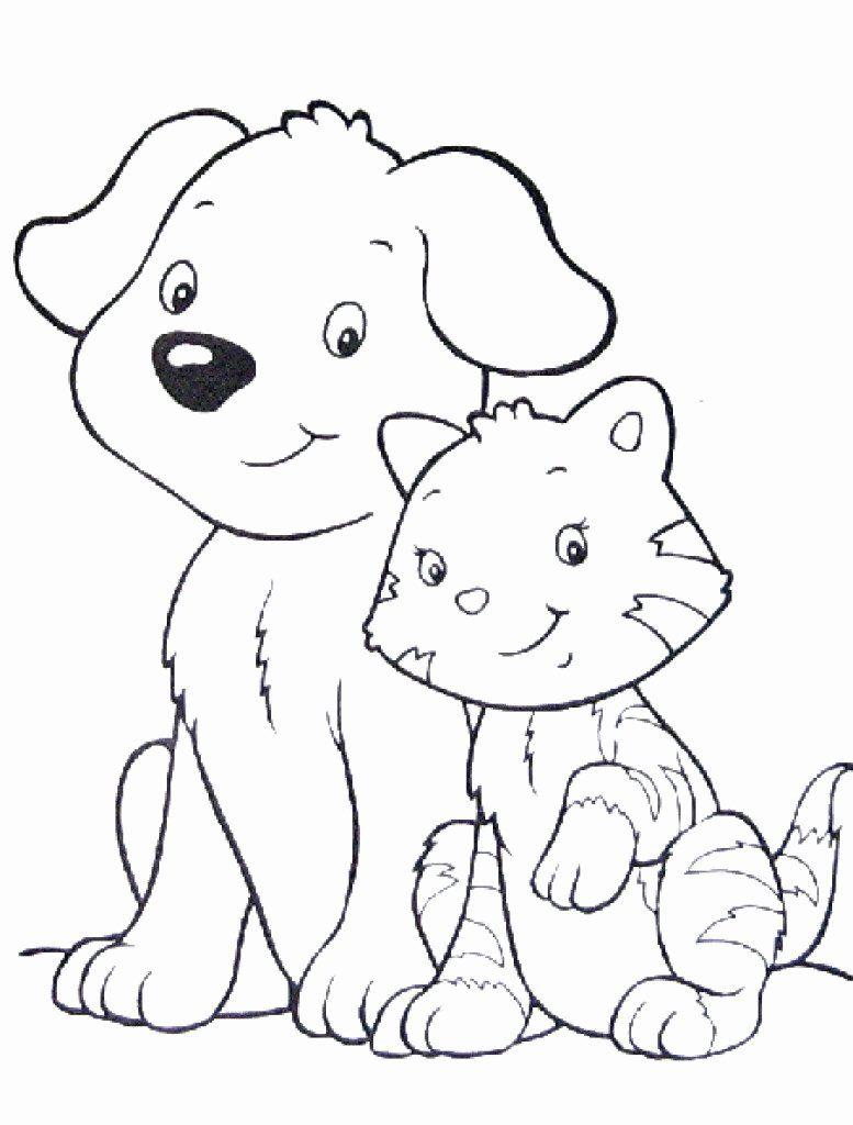 Cartoon Coloring Cat Best Of Cat Coloring Pages Cute Best Cute Cat Coloring Pages Dog Coloring Page Cat Coloring Page Cat And Dog Drawing