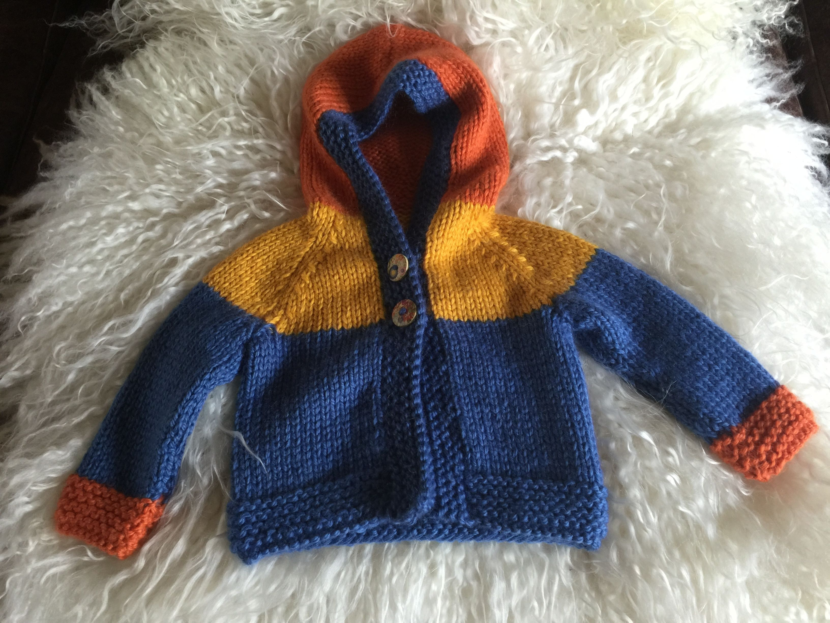 cosy kids hoodie - pattern available to knit with Home Farm ...