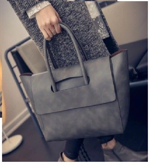 c1a80bffe7 Women Bag Fashion Casual European Handbag Solid Totes Big Size Trapeze  Style