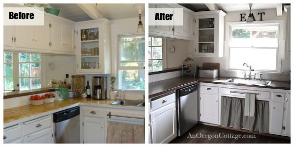 DIY Kitchen Remodel: From 80's Ranch to Farmhouse Fresh | Diy ...