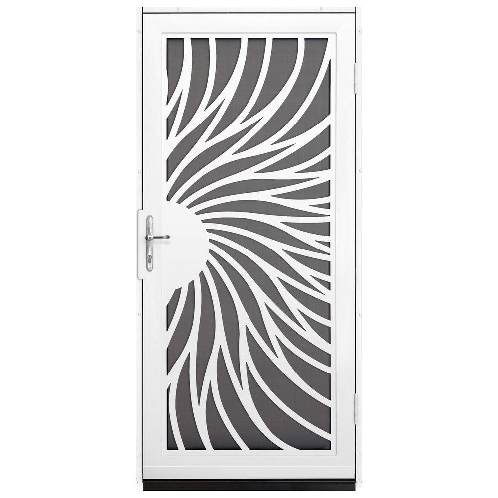 Unique Home Designs 36 In X 80 In Solstice White Surface Mount