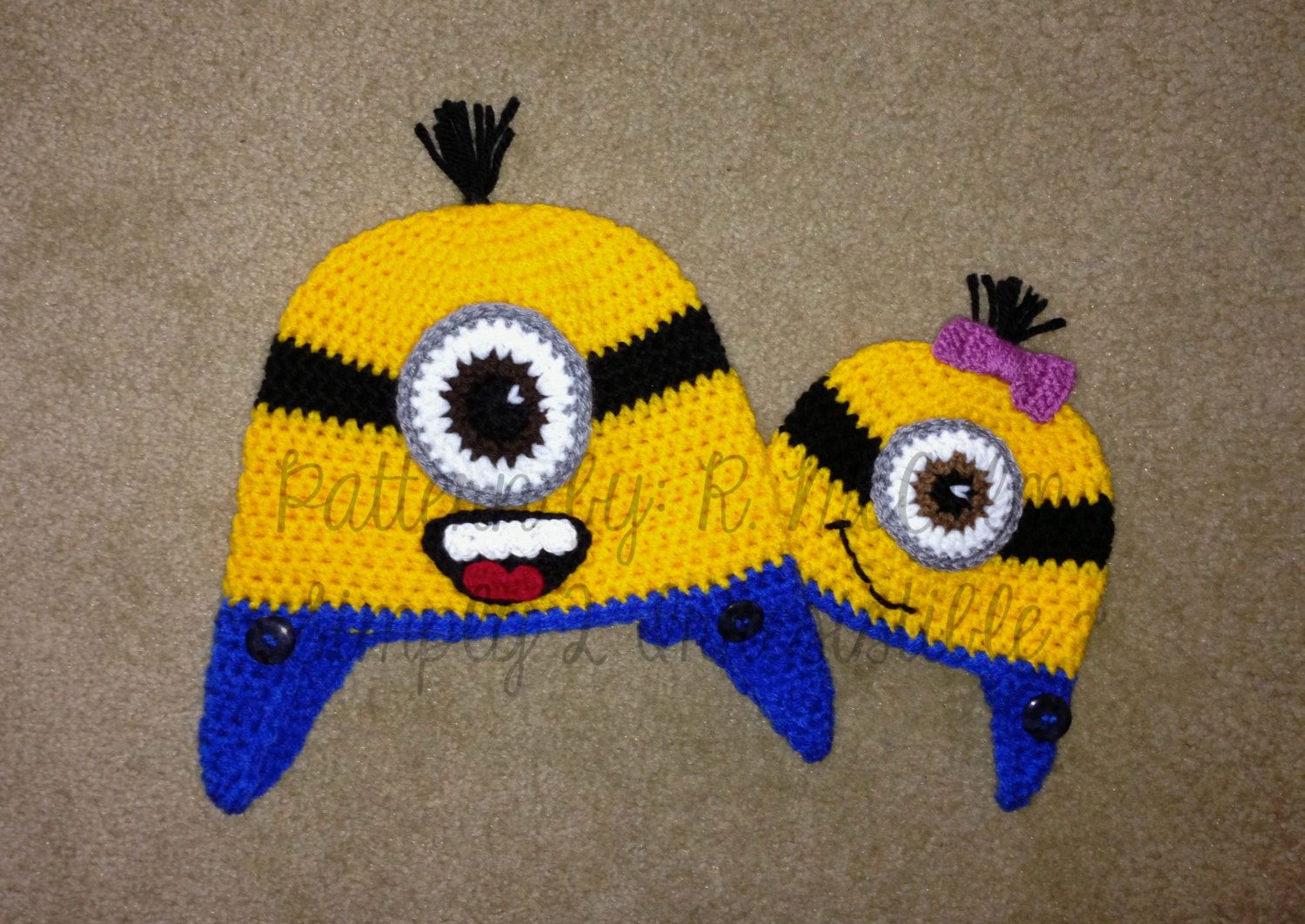 Minion Hat Crochet Pattern 63 US and UK by Simply2Irresistible ...