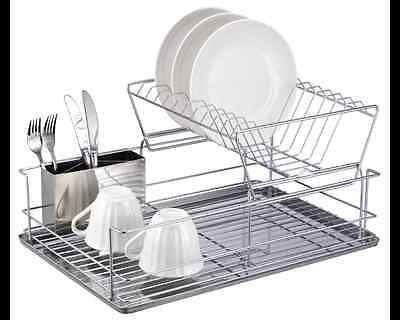 Home Basics 2 Tier Dish Rack Endearing Home Basics 2Tier Dish Rack  Silver  Dish Racks 2018