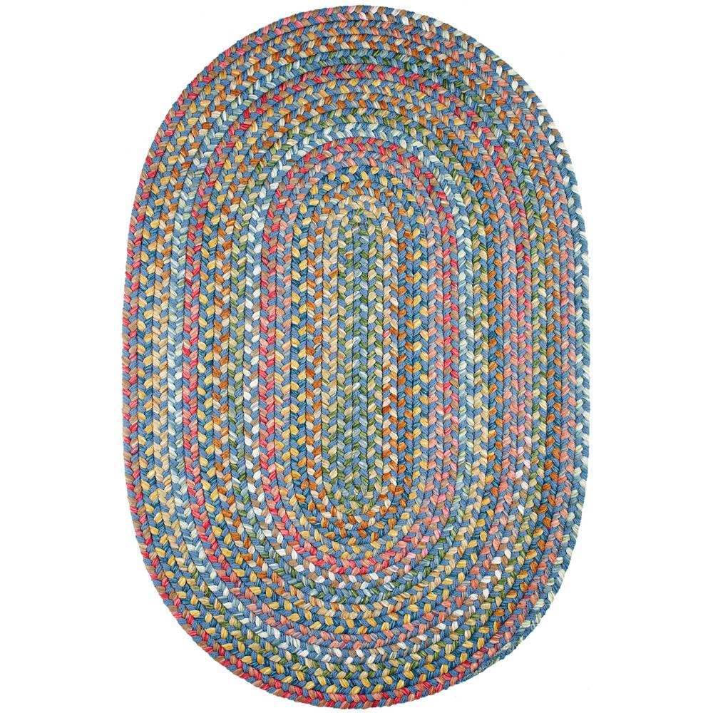 Rhody Rug Bouquet Sapphire 3 Ft X 5 Ft Oval Indoor Outdoor Braided Area Rug Bq95r036x060 The Home Depot In 2020 Rhody Rug Oval Braided Rugs Braided Area Rugs