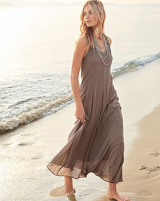 ce18941c7f8 Cotton Gauze Long Cover-Up | Bohemian Beach Surfer Queen at Heart ...