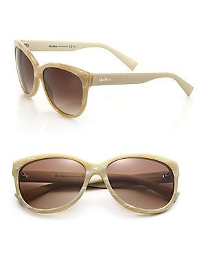 Max Mara Tailored 57MM Butterfly Sunglasses - Beige - Size No Size