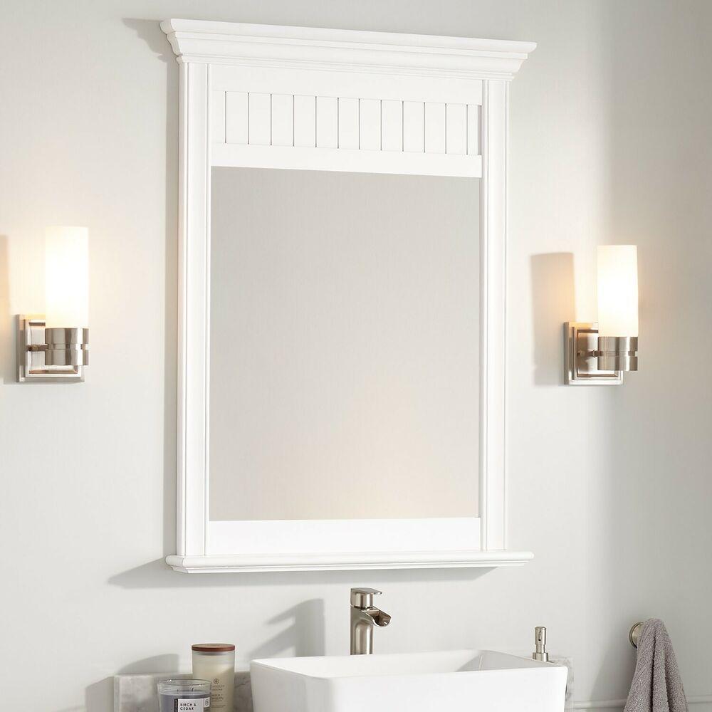 Ebay Sponsored Signature Hardware Cottage Retreat Vanity Mirror 30 L X 4 W X 40 H In White Home Decor Mirrors Bathroom Mirror Home Decor [ 1000 x 1000 Pixel ]