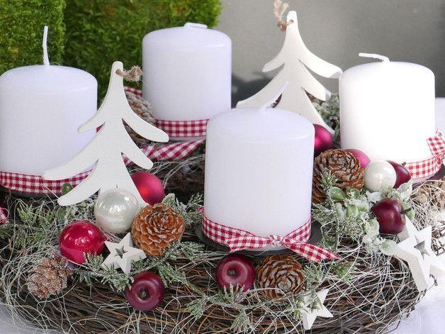 Adventskranz *Tanne* handgearbeitetes Unikat aus haltbaren Materialien an dem ma…,  #Advent…