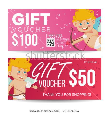 Valentine\u0027s Day Voucher Template Vector Horizontal Free Card