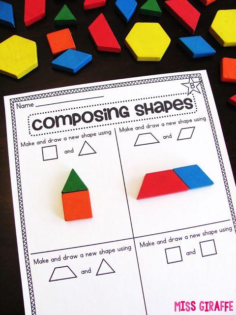 Composing Shapes in 1st Grade   Vorschule, Englisch und Kind
