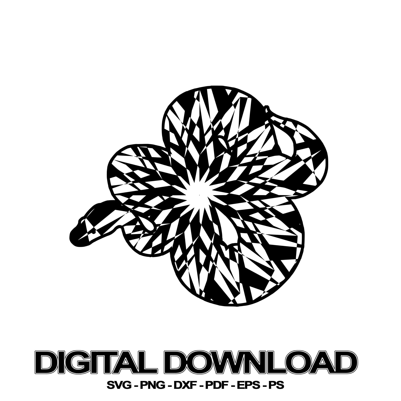 Python Mandala October Edition SVG Digital Picture Download