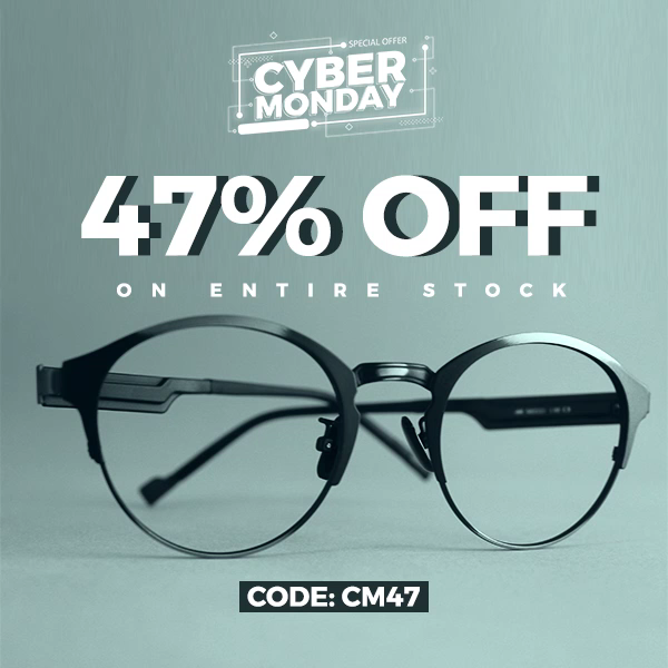 Cyber Monday sale is now on. 47% OFF on entire stock. Use code: CM47 Shop now at goggles4u.com #Goggles4u #G4u #Sunglasses #Glasses #Vision #CyberMonday #CyberMondaySale #CyberMondayOffer #HolidayOffers #HolidayDiscounts #Discounts #Offers #USAGlasses #OnlineShopping #Affordableglasses #Affordableglassesonline #Cheapglasses #OnlineCheapPrescriptionglasses #Fashion #Style #Chic #Lookbook #WinterLookBook19 #OOTD #OOTN