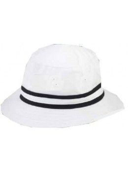 ec4fc4a338e Ahead Nicklaus Bucket Hat with Contrast Trim- White Navy