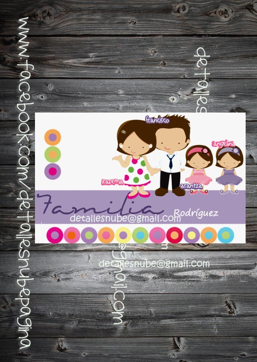 Tarjeta Familiar Personalizada Tarjetas Familiares