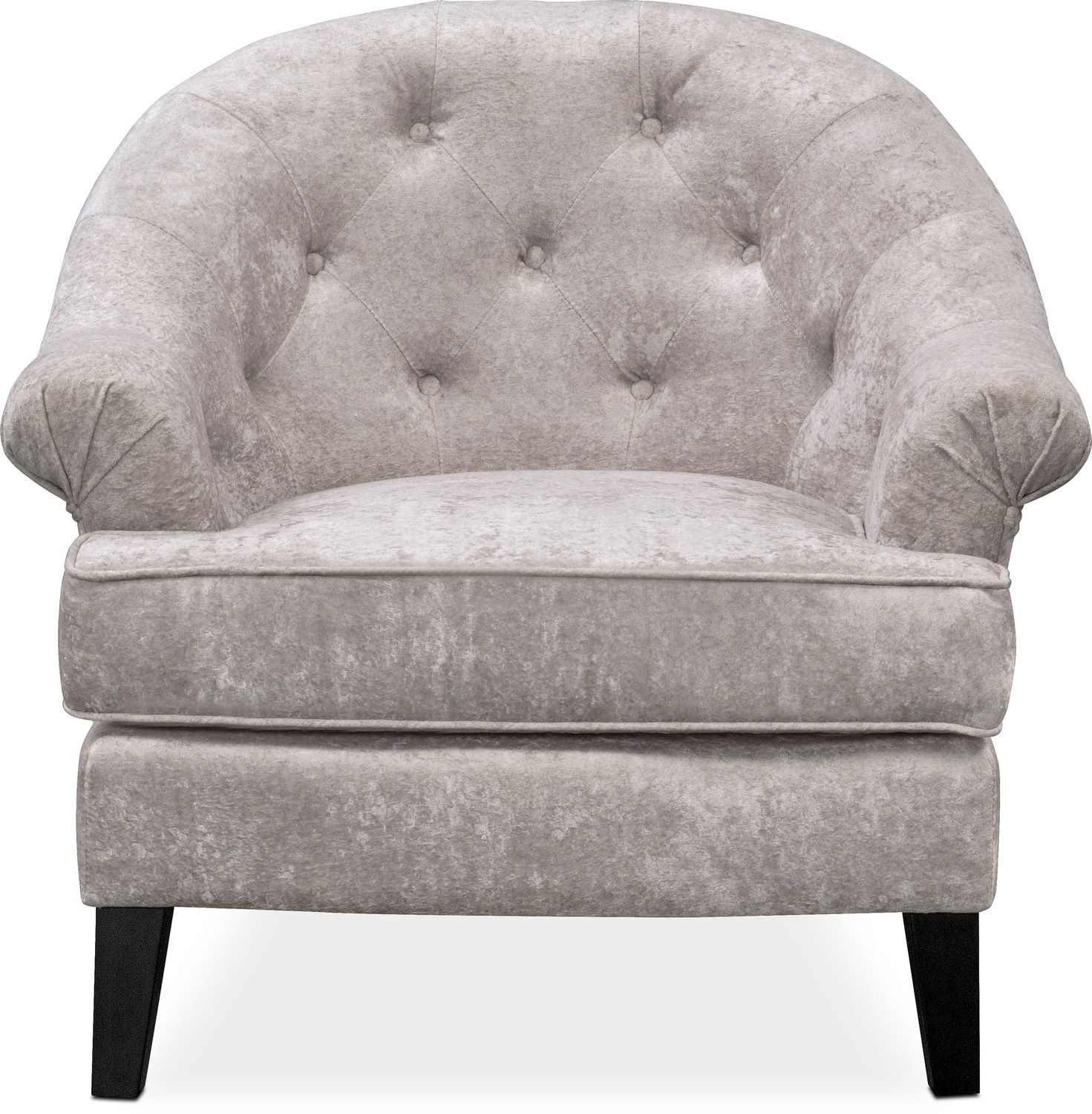 Value City Chairs Kings Road Accent Chair Silver Value City Furniture And