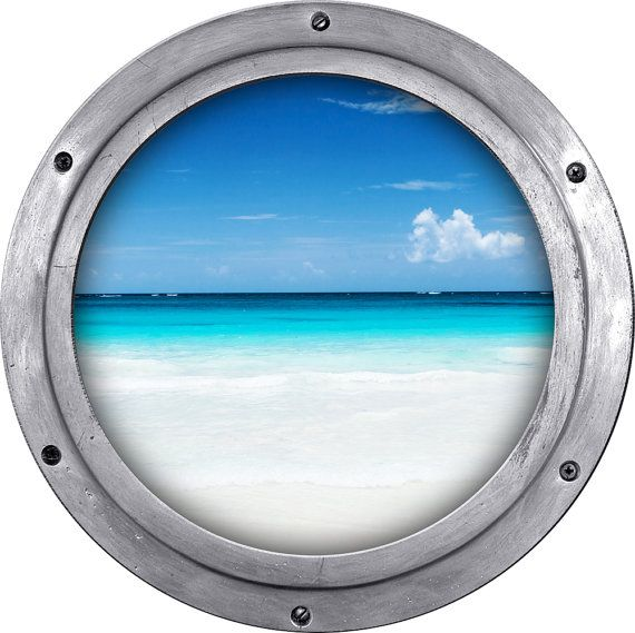 Vista de ojo de buey de un hermoso paisaje marino por StyleAwall