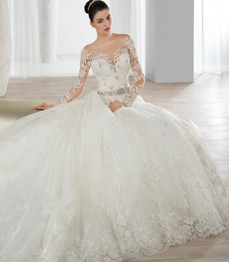 Barato Hochzeitskleid Vestido De Noiva Ver Através Voltar Sexy ...