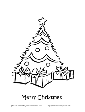 Christmas Coloring Book Tree Page