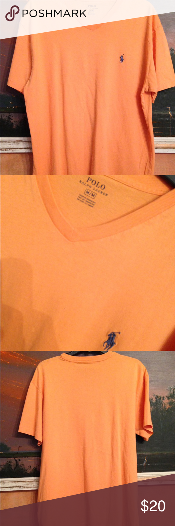 Polo Ralph Lauren orange t-shirt NWOT New condition. Never worn. Size Medium. Length 27 inches. Polo by Ralph Lauren Shirts Tees - Short Sleeve