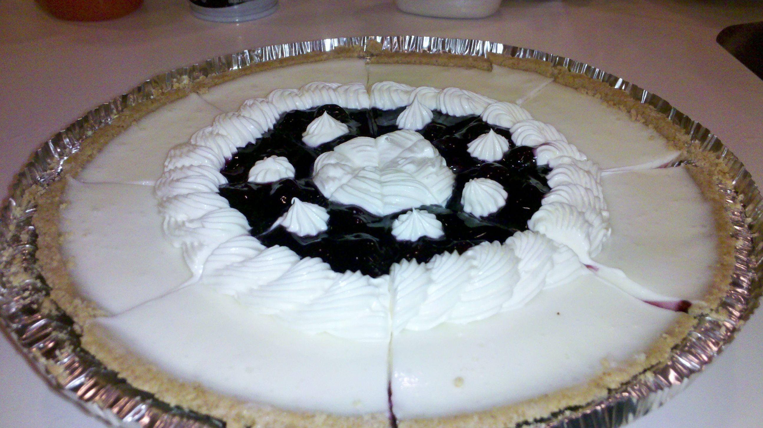 Marie Callenders Sour Cream And Blueberry Pie I Used A Can Of Blueberry Pie Filling An Sour Cream Blueberry Pie Recipe Blueberry Pie Recipes Fruity Desserts