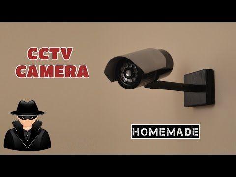 How To Make A Dummy Cctv Camera From Scrap Homemade Youtube Cctv Camera Art Tips Camera