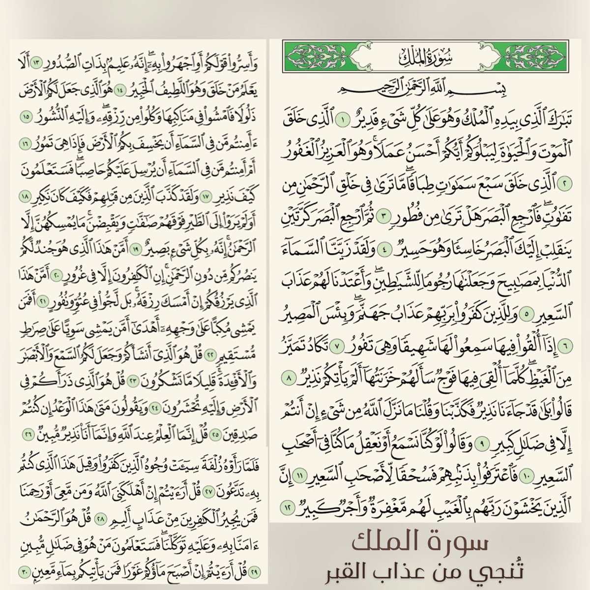 سورة الملك Quran Quotes Quran Quotes Love Islamic Pictures