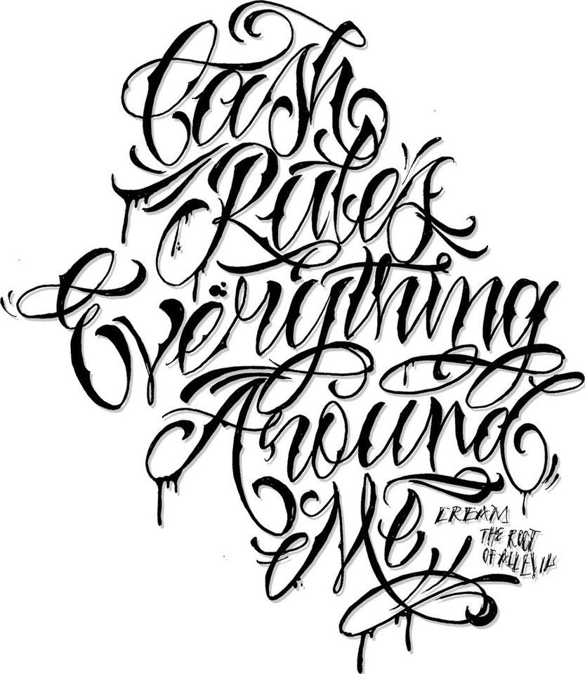 C R E A M Lettering By Chiv0 On Deviantart Chicano Lettering