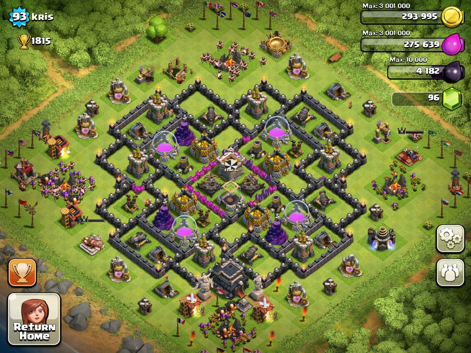 This is my friends base on clash clans  Clash Of clans