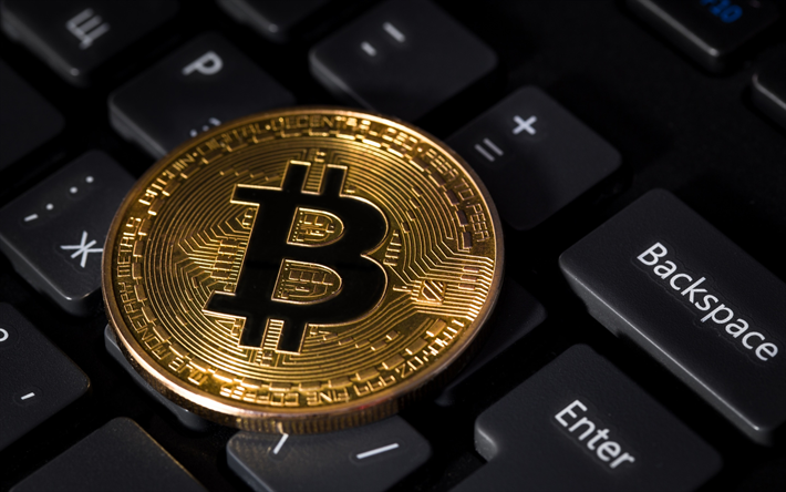 Download Wallpapers Bitcoin Crypto Currency Electronic Money