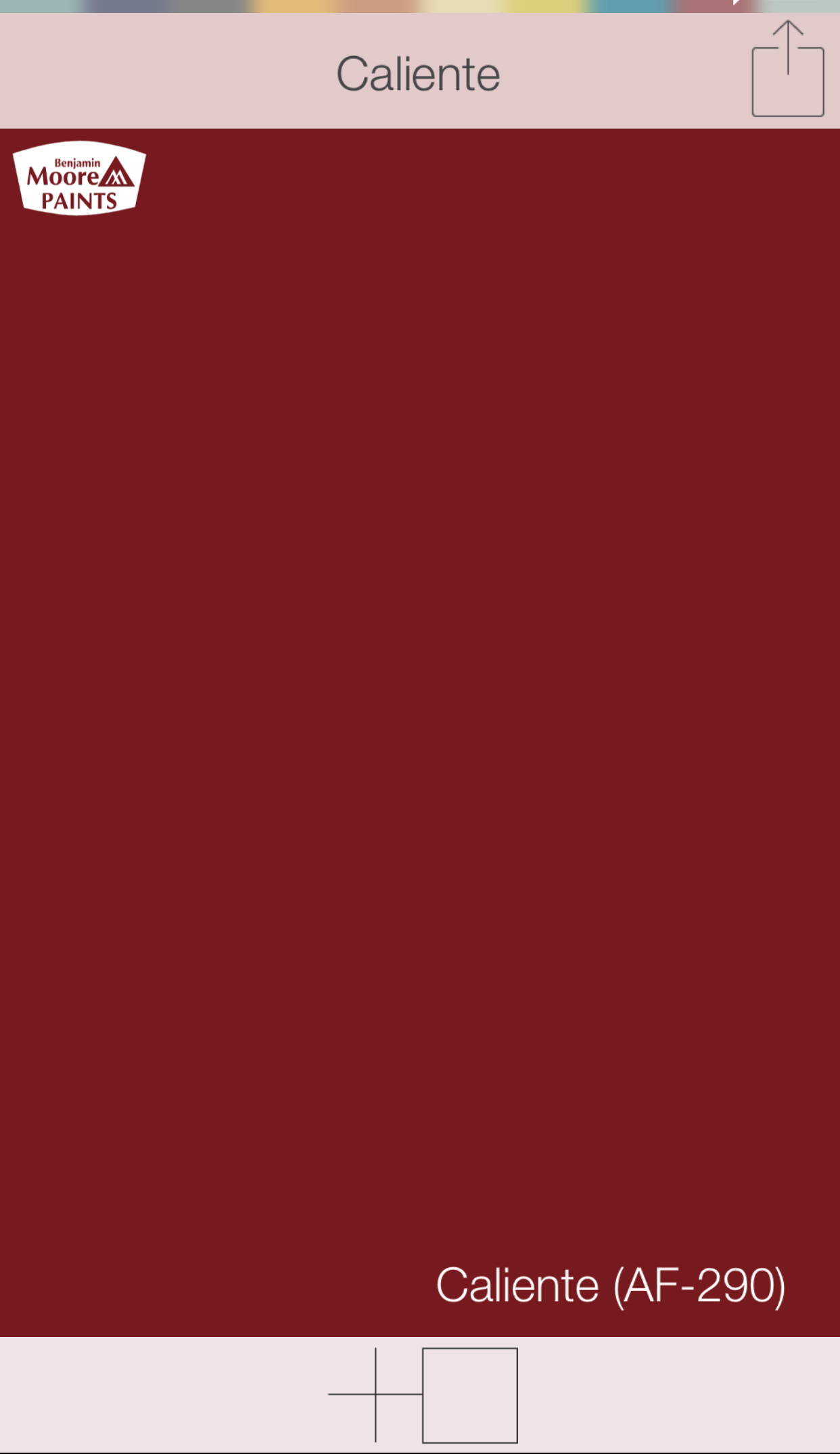 Red Front Door Colors Caliente Af 290 Benjamin Moore Paints Swatchdeck Use The Search Function In To Access Entire Collection Of