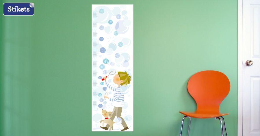 Medidor infantil Stikets niño y burbujas