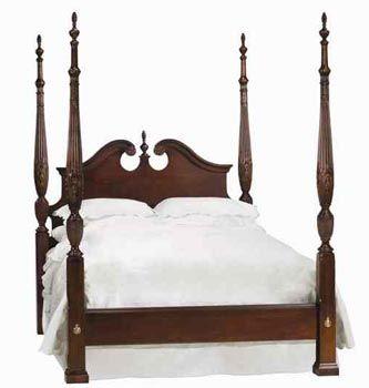 solid cherry 4 post rice queen bed