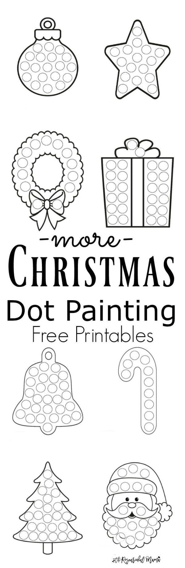 Easy activity- Christmas dot painting for toddlers and preschoolers ...