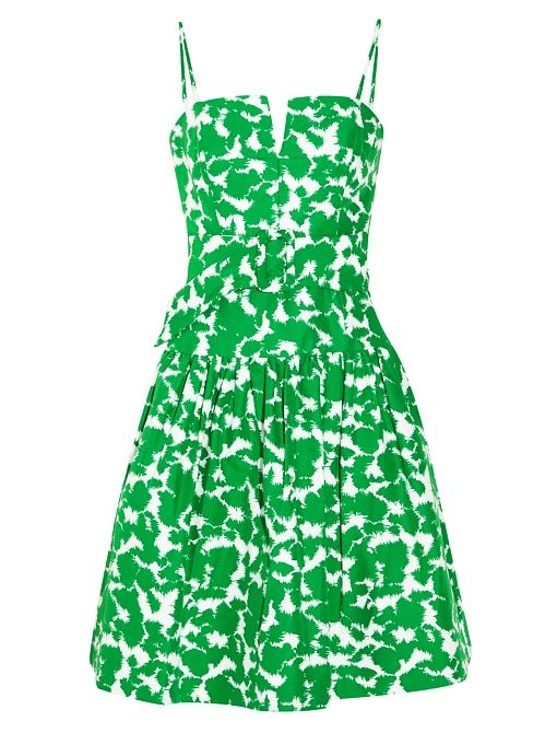 Go retro with this bright green Milly dress