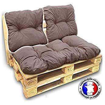 Coussin Dossier Coton Pour Salon Palette 60 55 Cm Taupe Ep 17 Cm