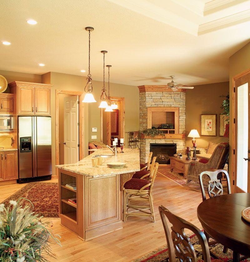 Parkridge European Home Hearth Room Kitchen Fireplace Kitchen