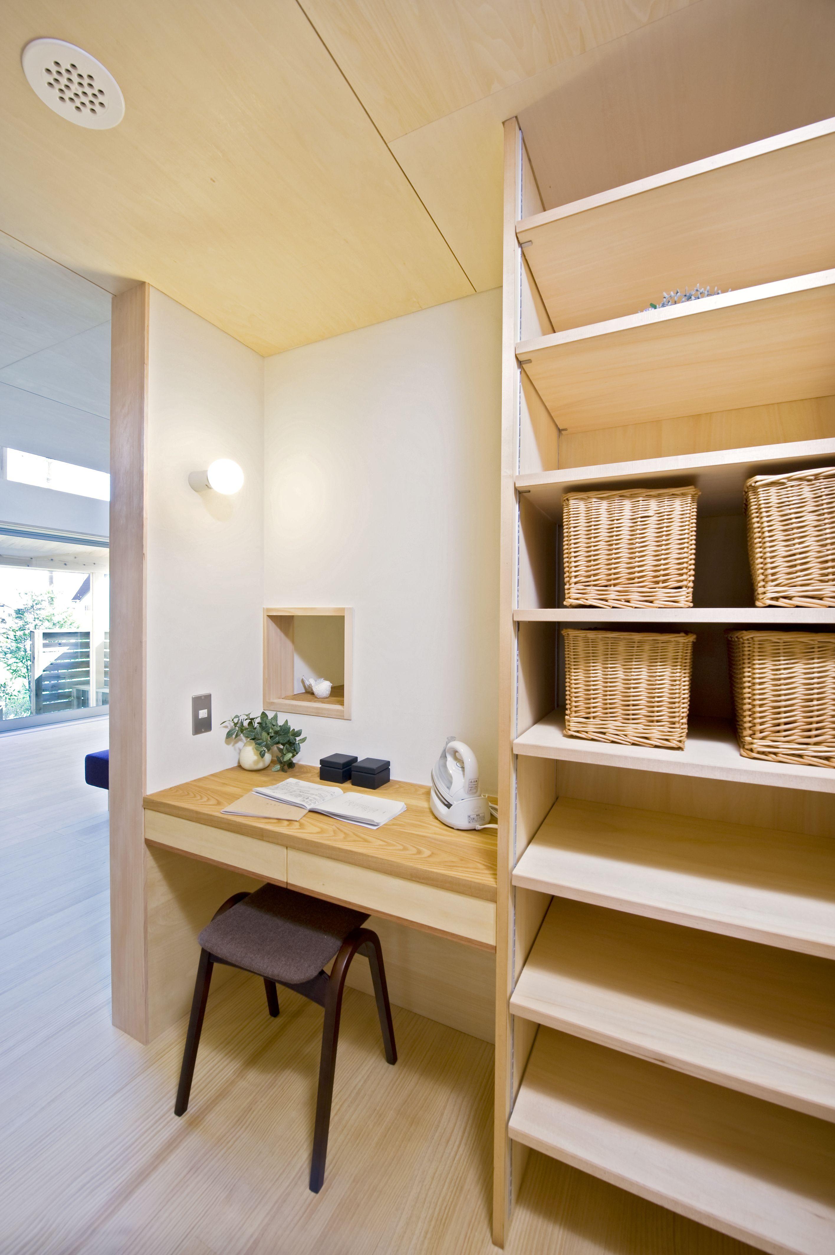 キッチン横の造り付けユーティリティーコーナー 自宅で 模様替え