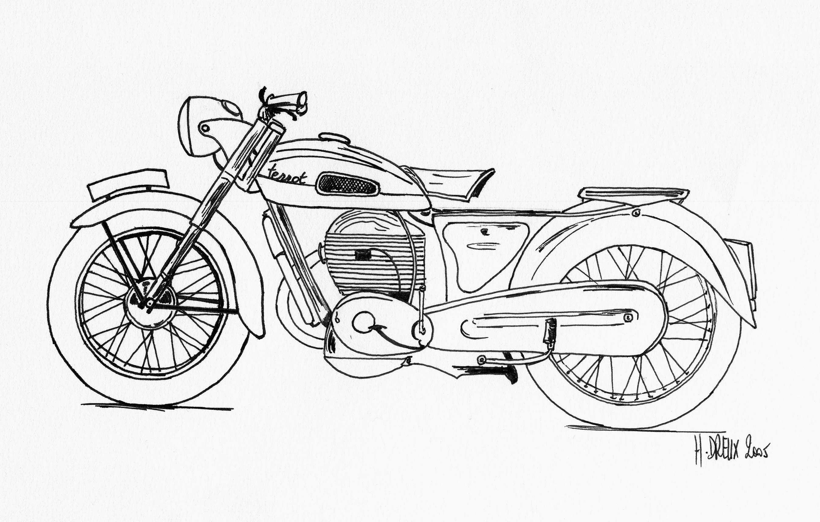 Moto harley dessin recherche google a imprimer motos - Dessin de moto ...