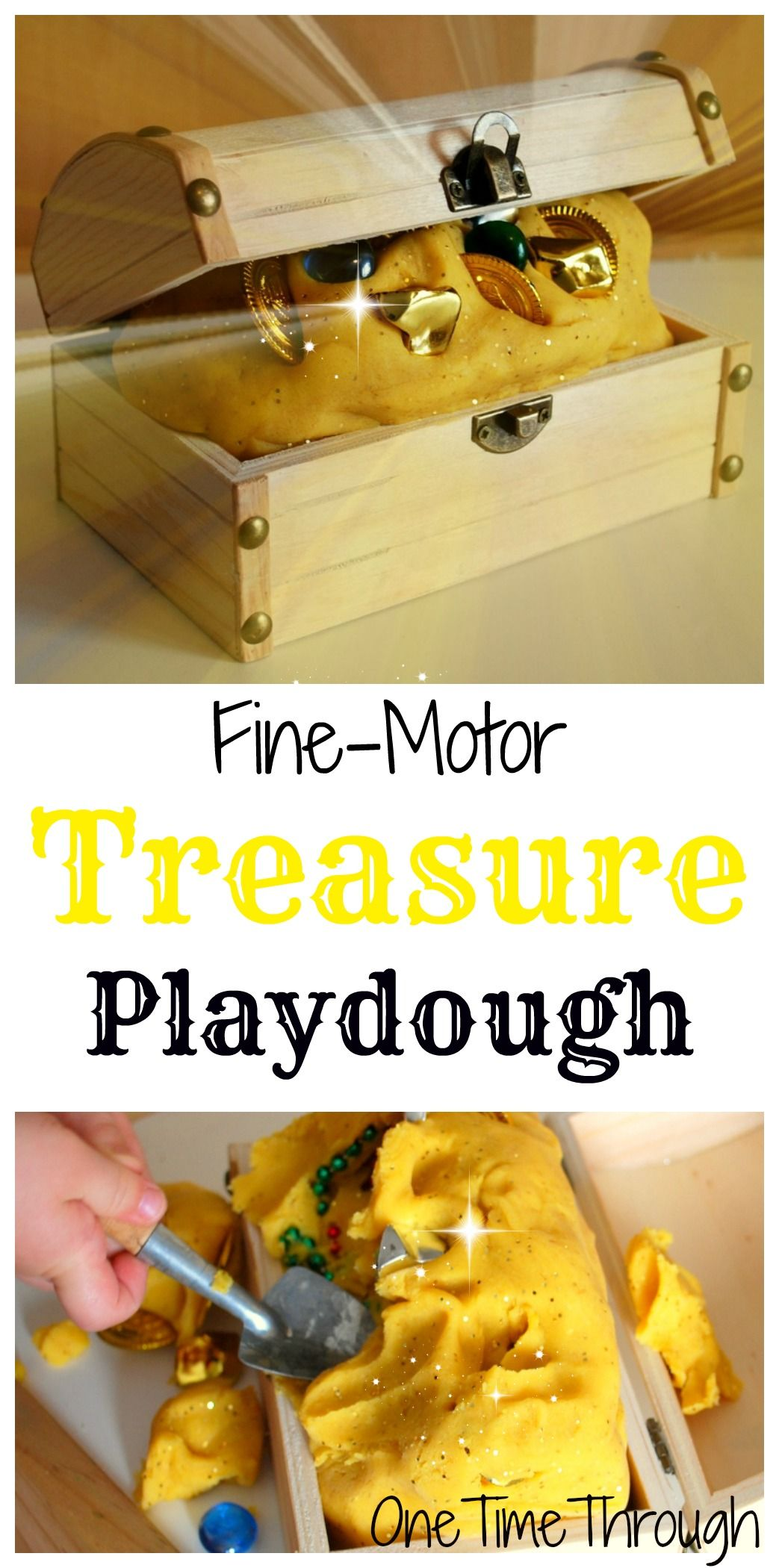 Pirate Treasure Playdough Fine Motor Fun