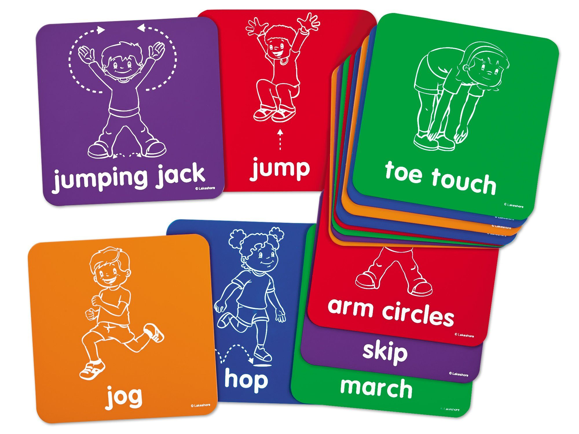 Lakeshore Let's Get Moving Activity Mats Brain breaks