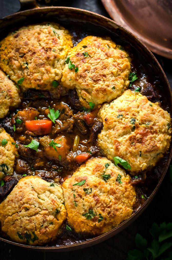Guinness Beef Stew With Cheddar Herb Dumplings Recipe