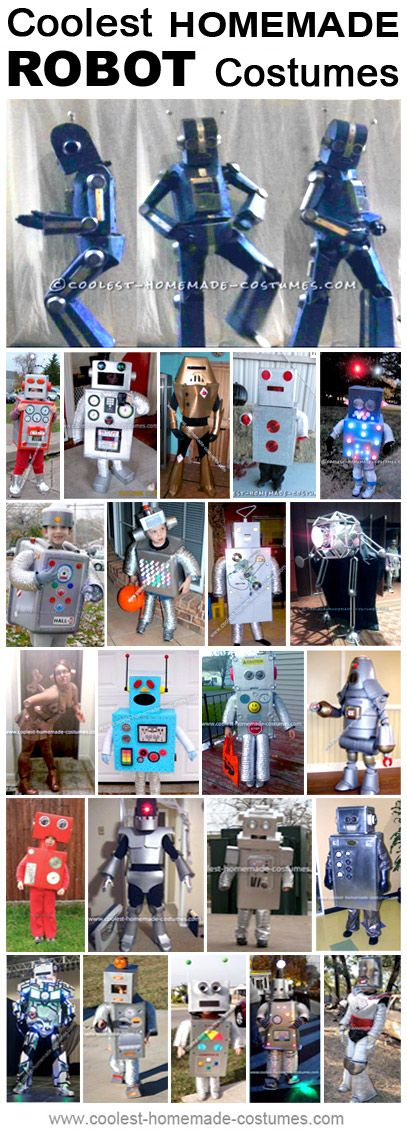 Coolest Homemade Robot Costume Ideas Crafts Robot halloween