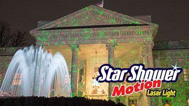 Star Shower Motion Laser Light For Christmas Decor. No Real Light Bulbs!