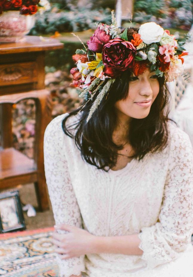 2015 Color Of The Year Ideas Fall Flower CrownFall FlowersWedding