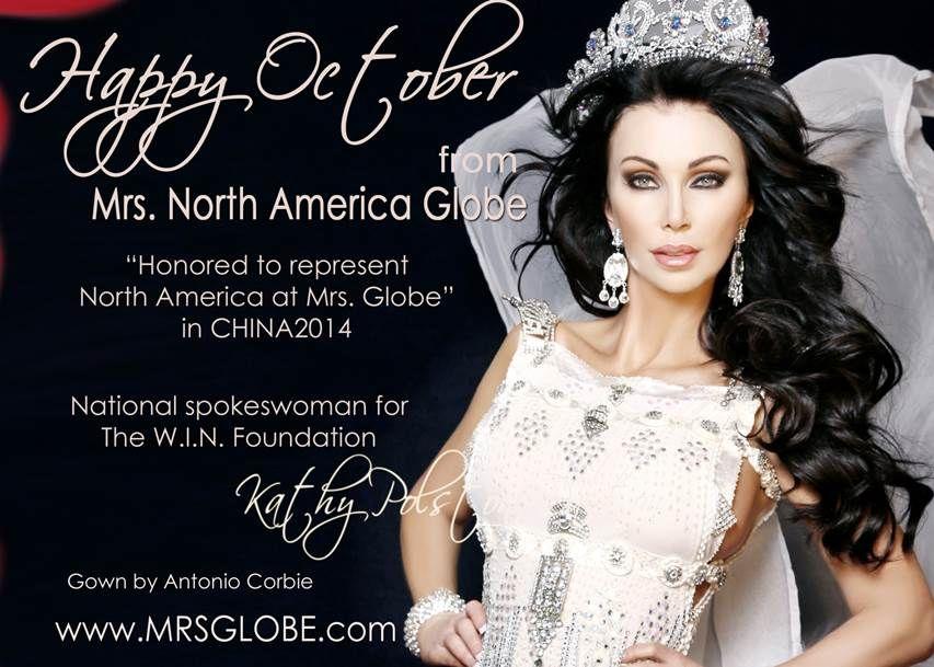 Kathy Polston-Dalton. Gown by Venzuelan designer Antonio Corbie .