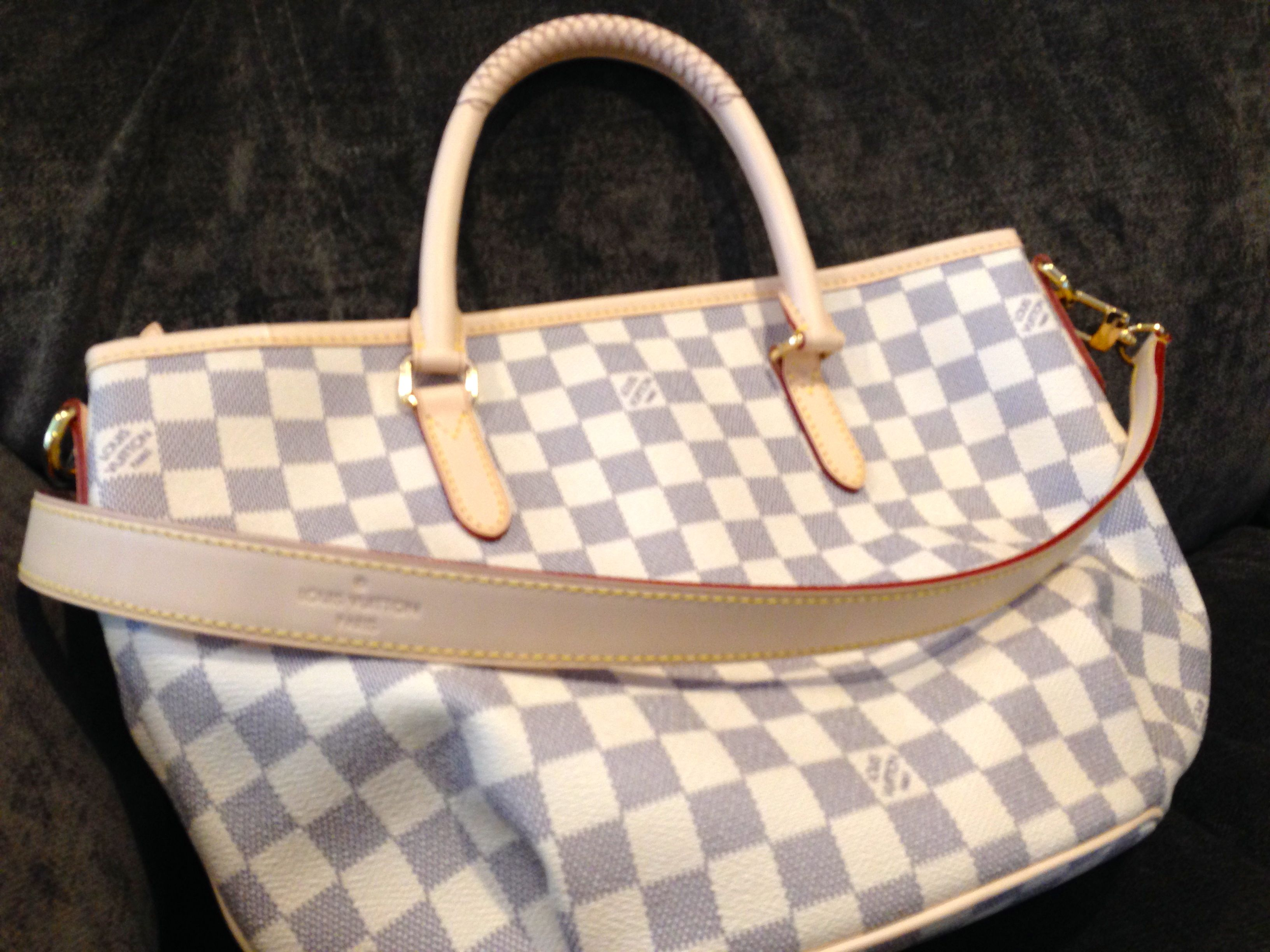 Louis Vuitton Riviera PM in Damier Azur. New for Spring 2014. My brand new  bag. Love it!  -) bf70c79b59e3a